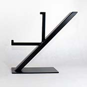 Metal Art Glass Display Stand by Clarity