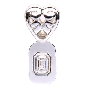 Silver-Plated Heart Bail