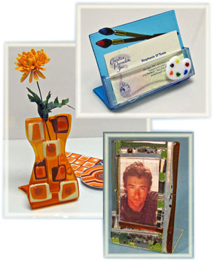 Dl art glass supply bend it molds are engineered to safely create free standing glass easels frames business card holders and more reheart Gallery