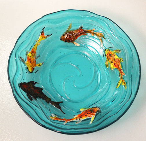 Create A Stunning Koi Fish Piece That Can Be Left Flat Or Slumped To Bowl The Detail Within Mold Is Extremely Intricate Leaving