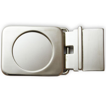Round Belt Buckle Blank (smaller design than original) Nickel-plated