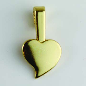 Gold-Plated Small Heart Jewelry Bails 16x9mm (Package of 25)