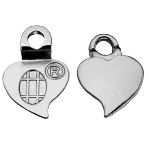 Silver-plated Heart Earrings Bails - 24 per pack