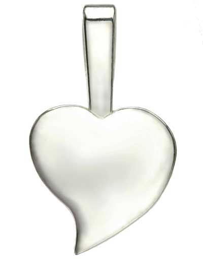Silver-Plated Large Heart Jewelry Bails 23x13.5 mm (Package of 25)