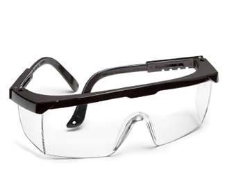 Safety Glasses Black Frame