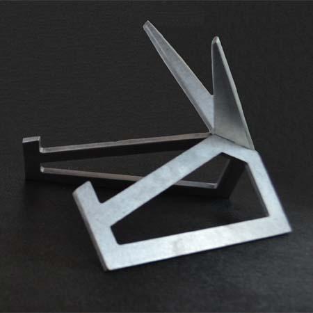 "Large Galvanized Finish Aluminum Art Display Stand 11 x 7-1/4"""
