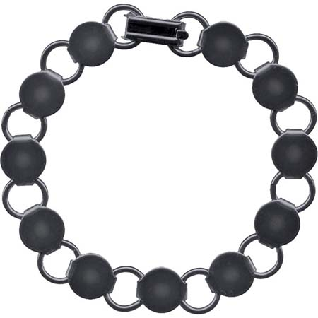 Bracelet with Round Blanks- Gunmetal (pack of 6)