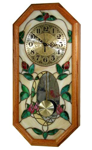 """Clarity Glass Design 12/"""" Pendulum Clock Kit for Stained Glass"""