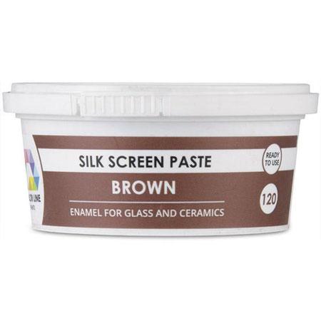 Brown Color Line Silk Screen Paste (Bullseye 008482-PSTE)