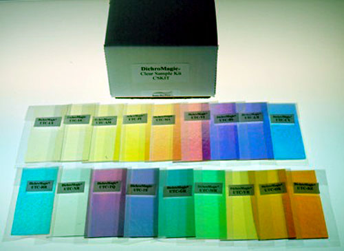 Thin Clear Color Sample Kit Uroboros 90 COE 19 pieces 1-1/2 x 3 in.