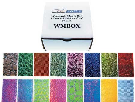 Magic Box Wissmach 90 COE 16 assorted (8 Black/8 Clear) 2-1/2 x 4 in.