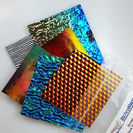 Textured Dichroic Scrap on Black System 96 - 1 lb. bag