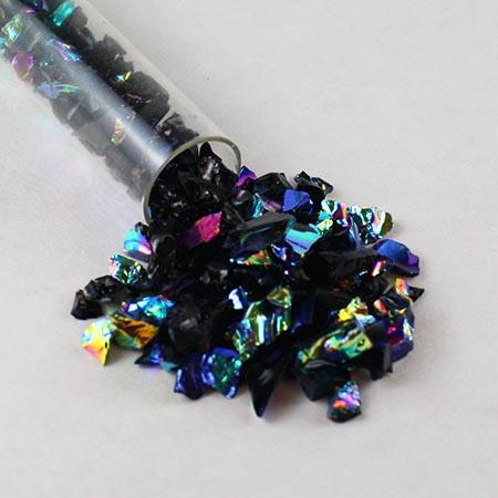 Black Dichroic Frit 90 COE (2 oz. Tube)