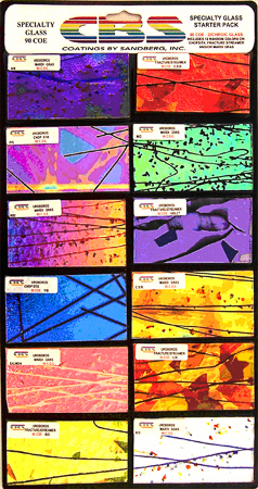 Specialty Dichroic Pack 90 COE 12 Pieces 2 x 4 in.