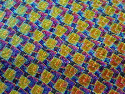 Crinklized System 96 Thin Clear - Box 1 Pattern on Mixture Dichroic