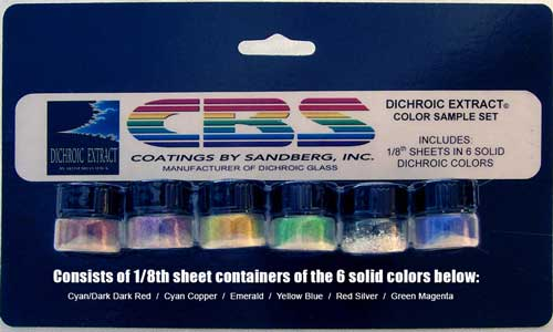 Dichro Extract Standard Color Sample Set (6 colors; 1/8 sheet equivalent each)