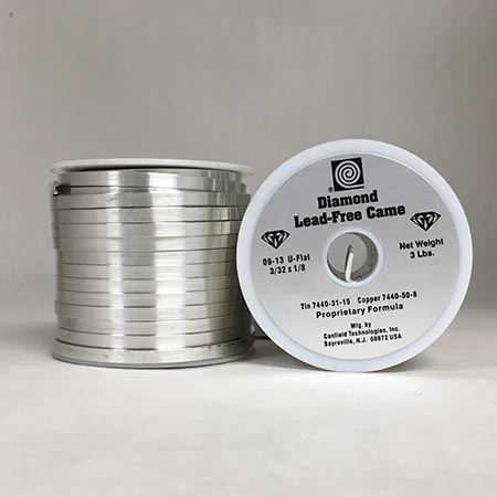 Diamond Lead Free Came 3/32 x 1/8 in. U-Flat (3 lb. Spool) Use with DLF solder