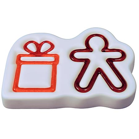 Gingerbread Man & Gift Ornaments Mold - 8 x 5.5 in.