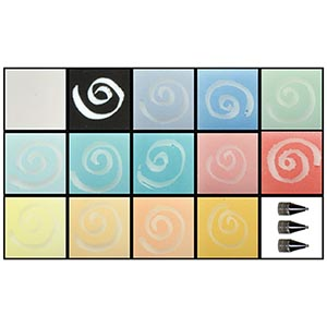 Glassline Beach Paint Set with 3 Tips and one each of 14 colors