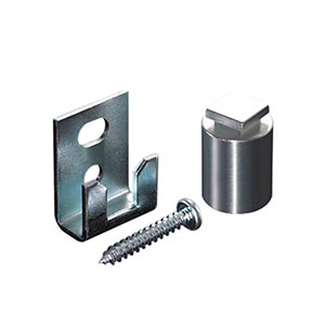 """Hang Your Glass Square Aluminum Locking Stand-off - 5/8 x 1 1/4"""""""