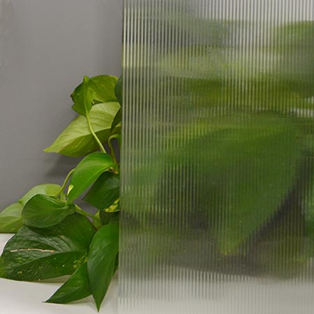 1/8 in. Reed Clear Cathedral Import Texture Large Sheet 65 x 85 in.