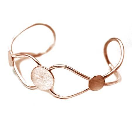 Copper 3 Pad Bracelet Cuff