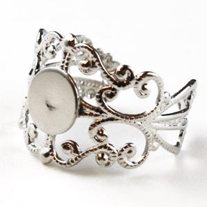 Silver Adjustable Filigree Rings - Pack of 10