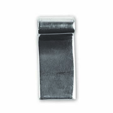 8 x 19 mm Rectangular Sterling Silver Bail (Pack of 25)