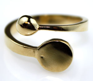 18k Gold-plated Adjustable Ring
