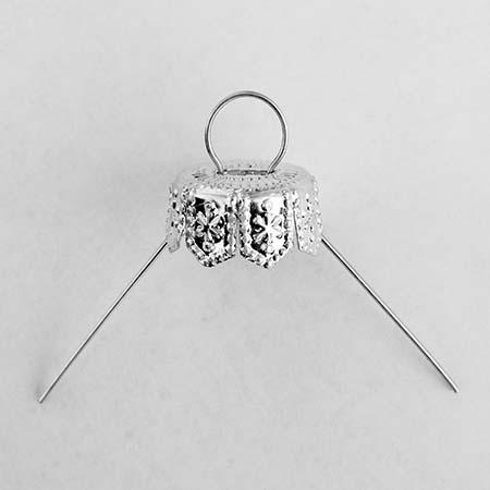 Silver Ornament Cap - 16 mm