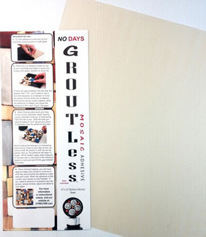 """No Days Groutless Mosaic Adhesive - Clear 12 x 12"""""""