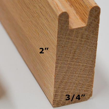 Extra Wide Oak Framing Stock (2 in. x 6 feet)