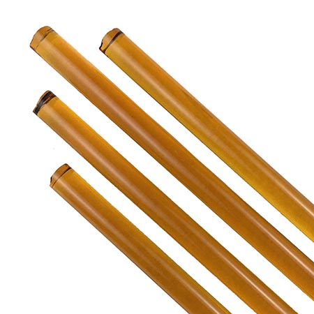 Light Amber Transparent Rod Fusible 96 COE