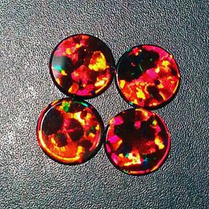 Opals - Round Coin - 8mm - Black
