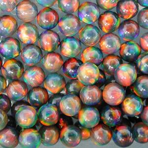Opals - Sphere - 4mm - Black