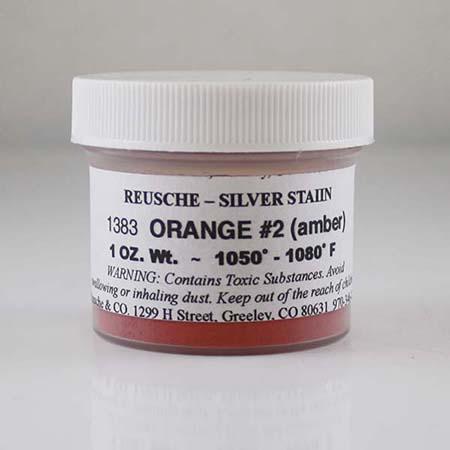 Silver Stain Orange No. 2 Amber
