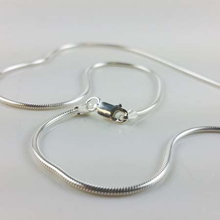 Snake Chain Sterling Silver 18 in., 1.25 mm with Clasp