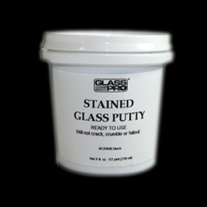 Stained Glass Putty - Black (Gallon)
