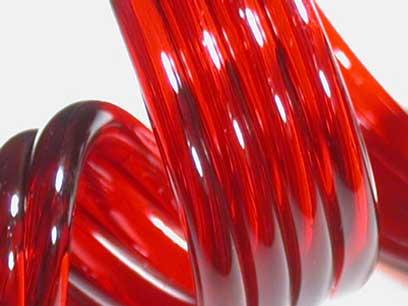 Red Elvis 33 COE Rod (1/4 lb. minimum order)