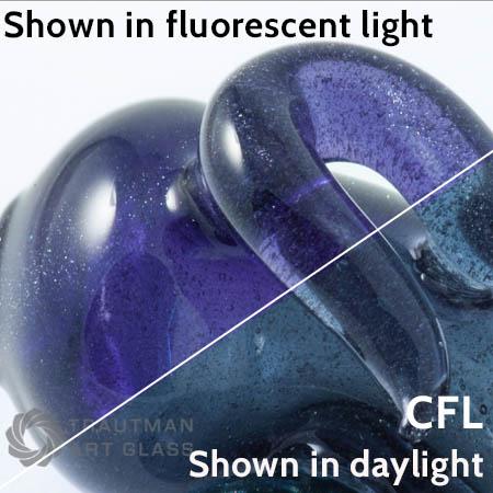 Experimental Blue Stardust (CFL) Rod 33 COE (1/4 lb. minimum order)