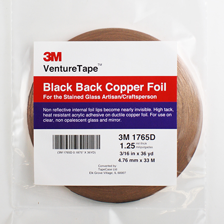 Black Back Foil Tape (3/16 in.) 1.25 mil