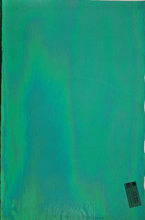 Y96 Teal Cathedral Iridized Fusible 96 COE