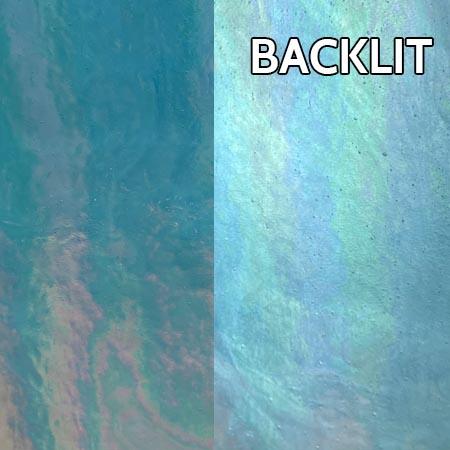Turquoise Stipple Iridized