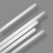 Jade White 6-8 mm Rod 33 COE (1/4 lb. minimum order)