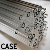 Clear 12 x 2.2 mm Heavy Wall Tube 33 coe (~44 pound case)