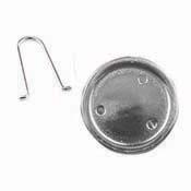 Silver Recessed Round Zipper Pull (2 per pack)