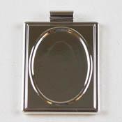 Silver Rectangle Frame Pendant