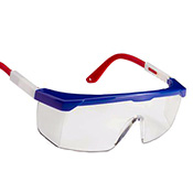 Safety Glasses Red, White and Blue Frame