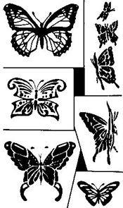 Rub'N'Etch Butterflies