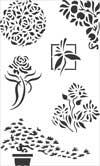 Etch Stencil Floral (5 x 8 in. laser-cut mylar)